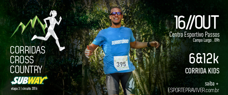 CORRIDA CROSS COUNTRY SUBWAY® - 3º ETAPA